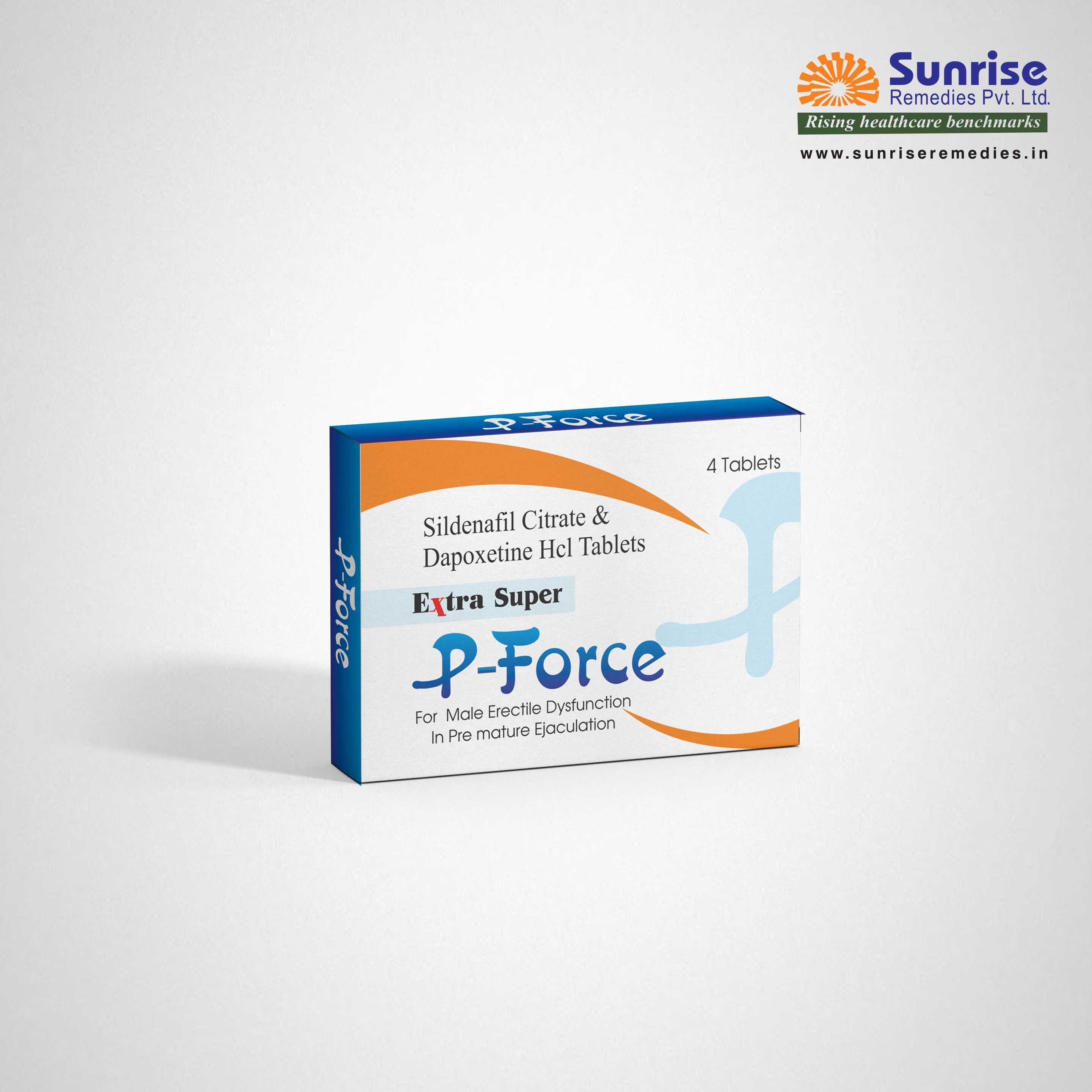 Extra Super P Force | Sildenafil & Dapoxetine | Sunrise Remedies