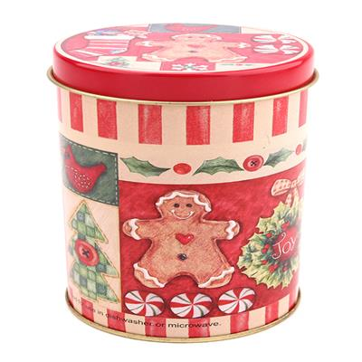 Round Santa Claus Tin Box