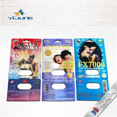 Blister Packaging Card For Male Enhancement Sexual Pill