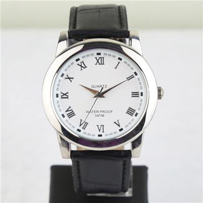 Genuine Leather Wrist Watch For Men