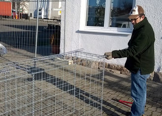 Pvc Coated Metal Gabion Baskets / Gabion Stone Cages Long Life Span