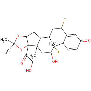 Pregna-1,4-diene-3,20-dione,6,9-difluoro-11,21-dihydroxy-16,17-[(1-methylethylidene)bis(oxy)]-, (6a,11b,16a)-