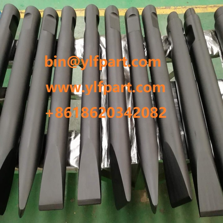 Robi excavator breaker chisel MH7 MH11 MH15 BH30 BH50 hydraulic hammer parts BH80 BH170 BH240 tool 135mm 140mm
