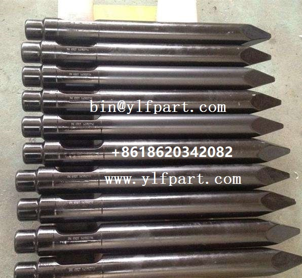 Excavator hydraulic hammer Krupp HM1500MV HB2200 HM2000MV chisel rock breaking tool HM550 HM560V parts wedge point