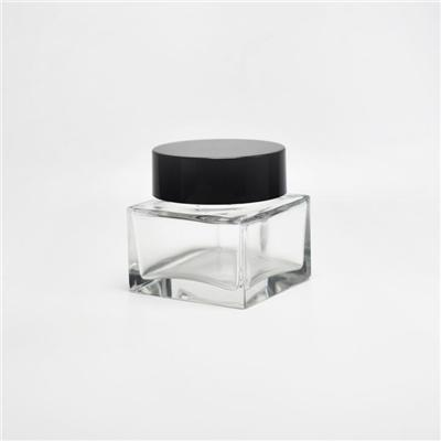 Square Glass Cosmetic Jars