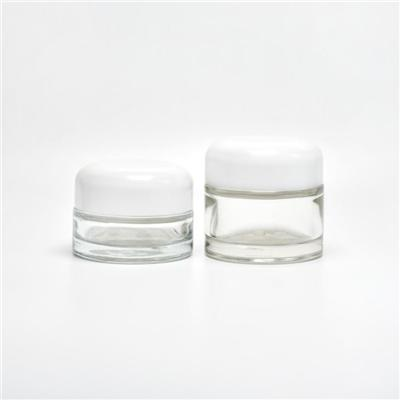 Cylinder Glass Cosmetic Jars