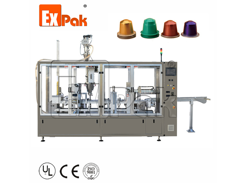 Two Lane Type Nespresso Capsule Filling Sealing Machine CP5002N