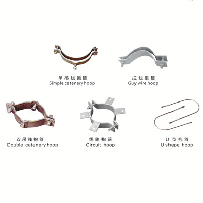 Hot-dip Galvanized Anchor Pull hoop/ Suspension Wire Hoop Electric Power Fixing Fitting