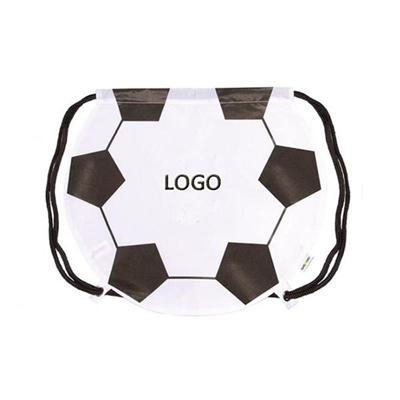 Soccer Ball Shape Drawstring Bag