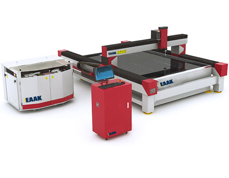 Waterjet cutting machine for cutting metal stone glass