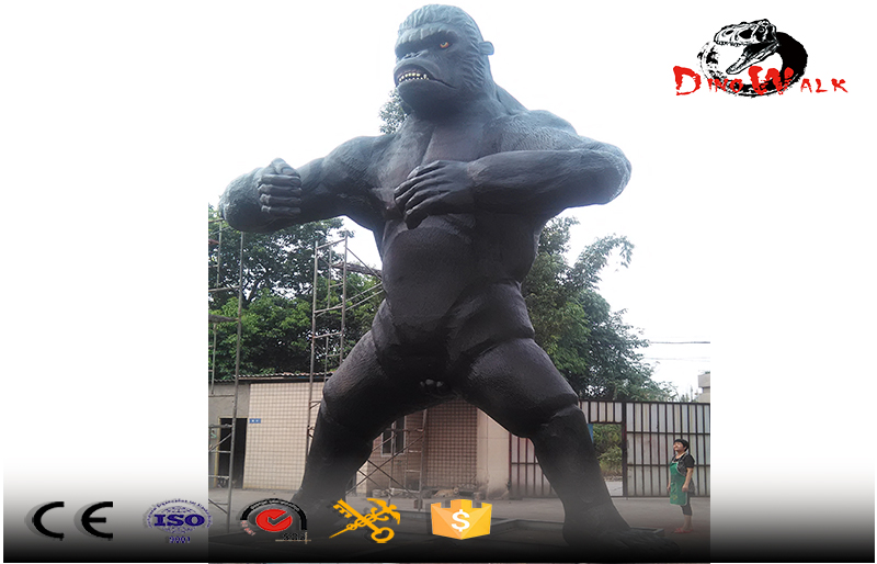 10m tall animatronics gorilla attractive model