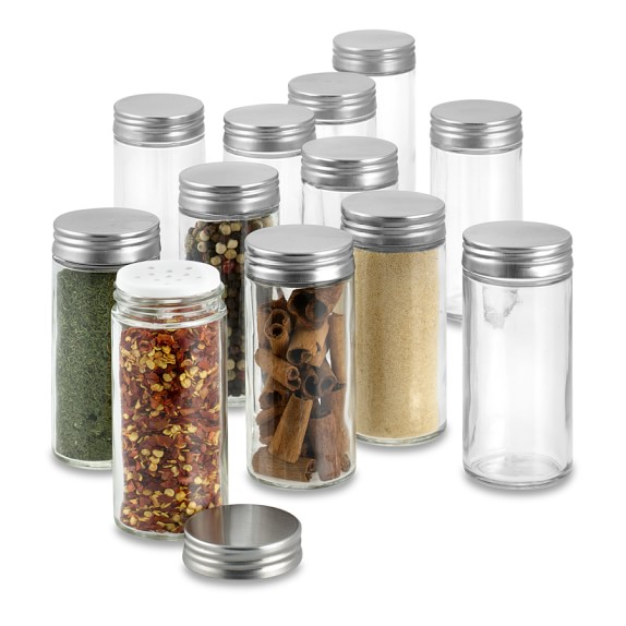 Glass Round Shaker Spice Jar