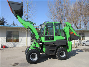 WZ45-16 backhoe loader used in farm with attachments