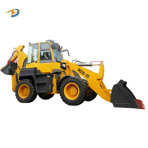 Small garden tractor mini loader backhoe