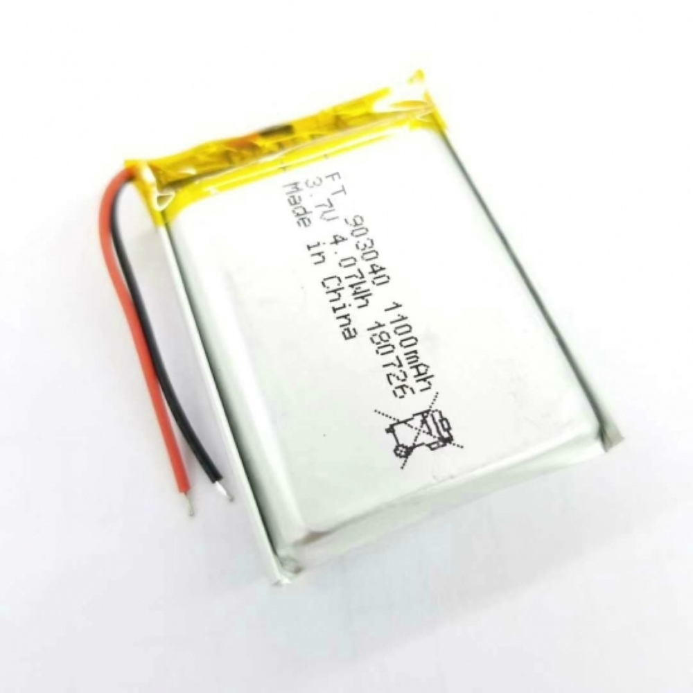 FT903040P 3.7V 1100mAh Customizable Rechargeable Li-po Battery For Electronic Device Rechargeable