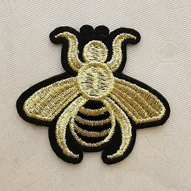Gold Embroidery patches,Custom Gold Silver Embroidery Patches