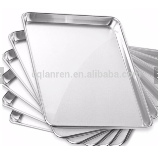 Aluminium baking tray sheet pan for bread and cookie in the kitchen