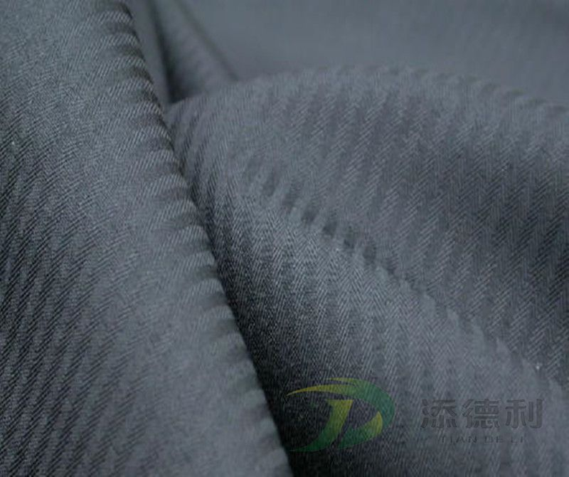 polyester herringbone dyed fabric