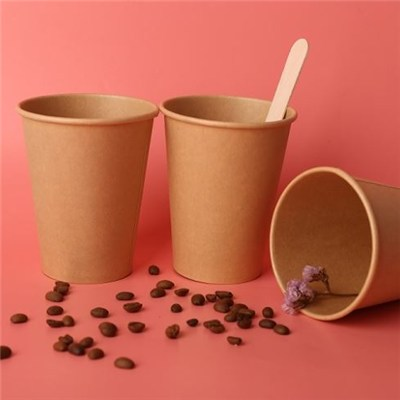 Disposable PLA Kraft Coffee Cup