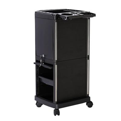 With Lockable 2 Key Salon Trolley