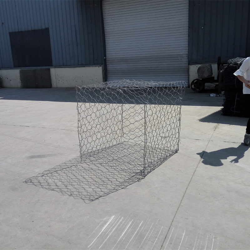 Hot Dip Galvanized Steel Hexagonal Gabion Baskets For Soil Erosion Protection