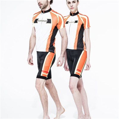 Tontos Orange Cycling Uniform For Lovers