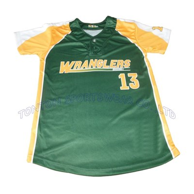 green Baseball Jerseys