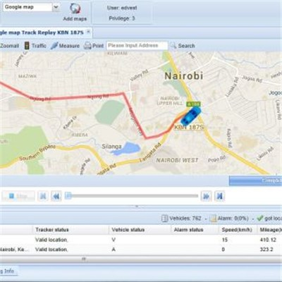 GPS tracker software for truck fleet