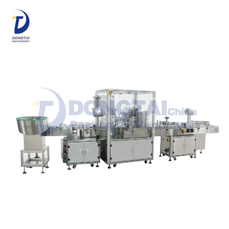 Electric Cigarette Liquid Bottle Filling Capping And Labeling Machine,100 Ml Plastic Bottle Packaging Line