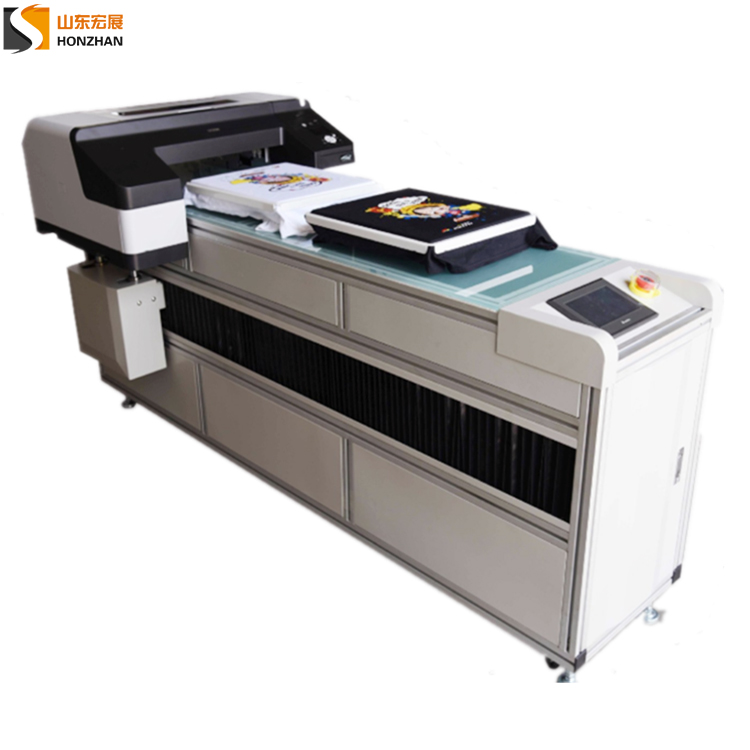 Honzhan HZ-T42125A Fast printing speed T-shirt DTG garment printer A2 A1 size with Epson4910 Printhead