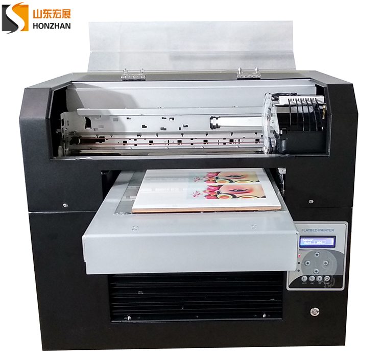 Honzhan HZ-UVA3-6C Digital UV LED flatbed printer A3 size