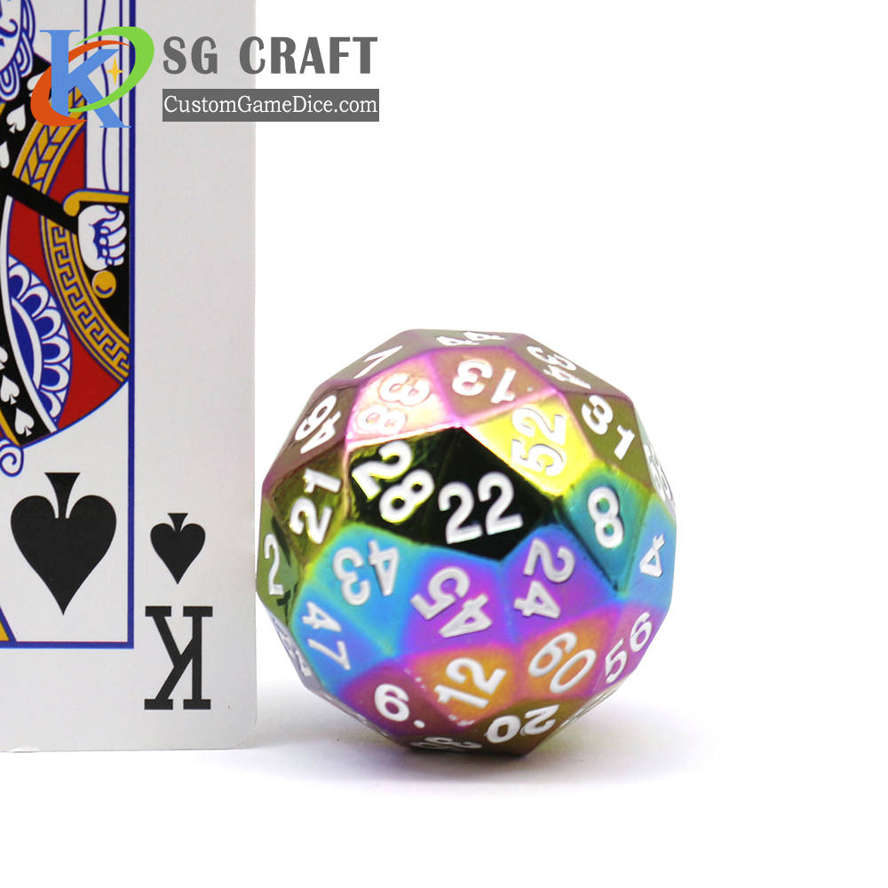 Custom D20 Metal Dice, Wholesale Zinc Alloy D20 Metal Dice, Accept Custom Brand