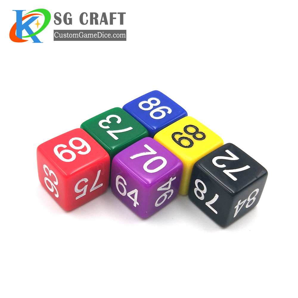 custom engraved plastic dice