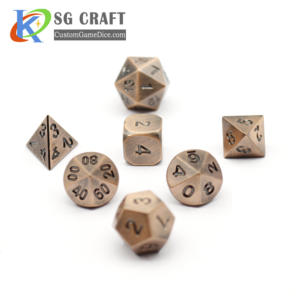 Custom D20 Metal Dice, Wholesale Zinc Alloy D20 Metal Dice, Accept Custom Logo