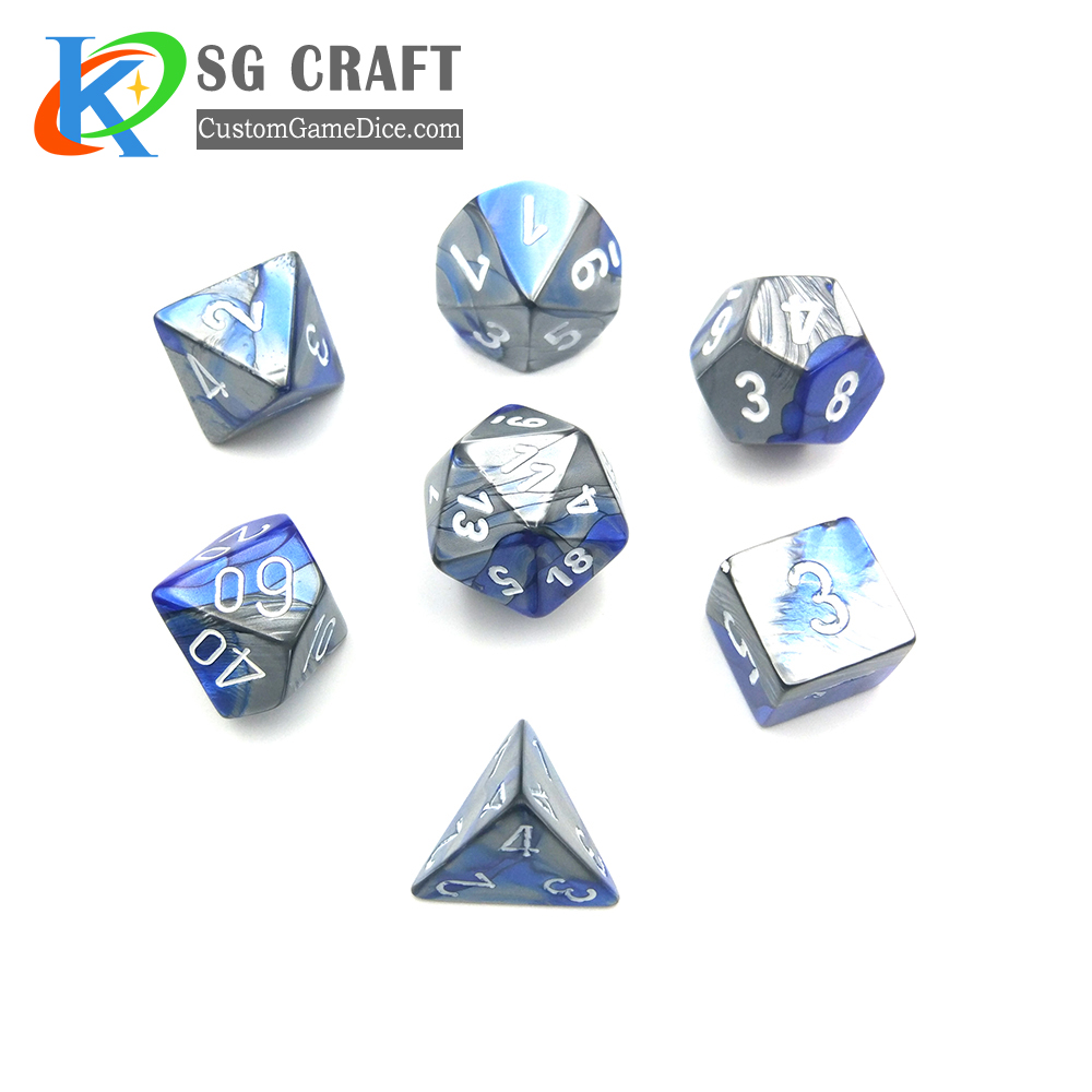 New Design Polyhedral Colored Dice For Board Game