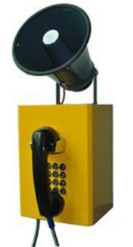 Loud speaking weatherproof telephone