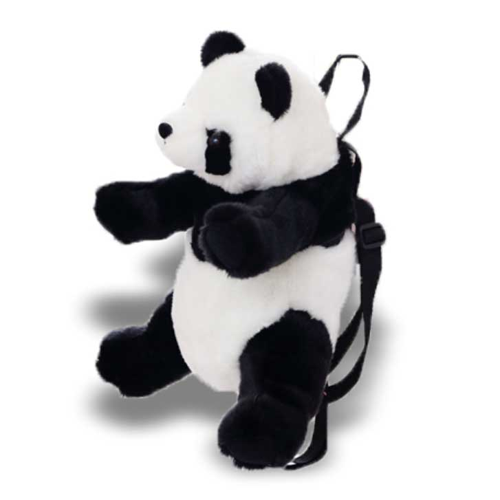 Cartoon Panda Toy Backpacks Plush Animals Bags
