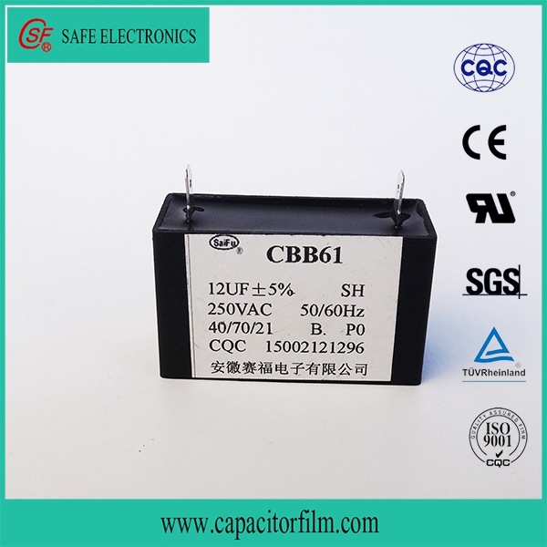 CBB61 capacitor sh 50/60hz 40/70/21 on AC motor for Fan used