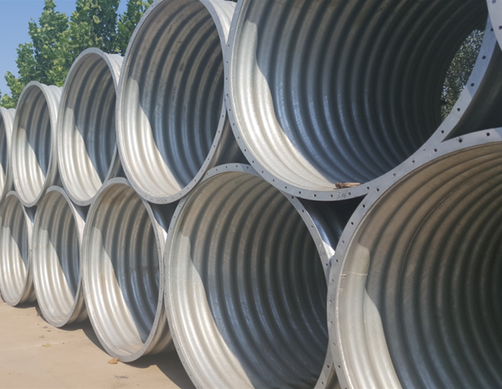 Intergral corrugated steel pipe  corrugated metal culvert     corrugated metal pipe
