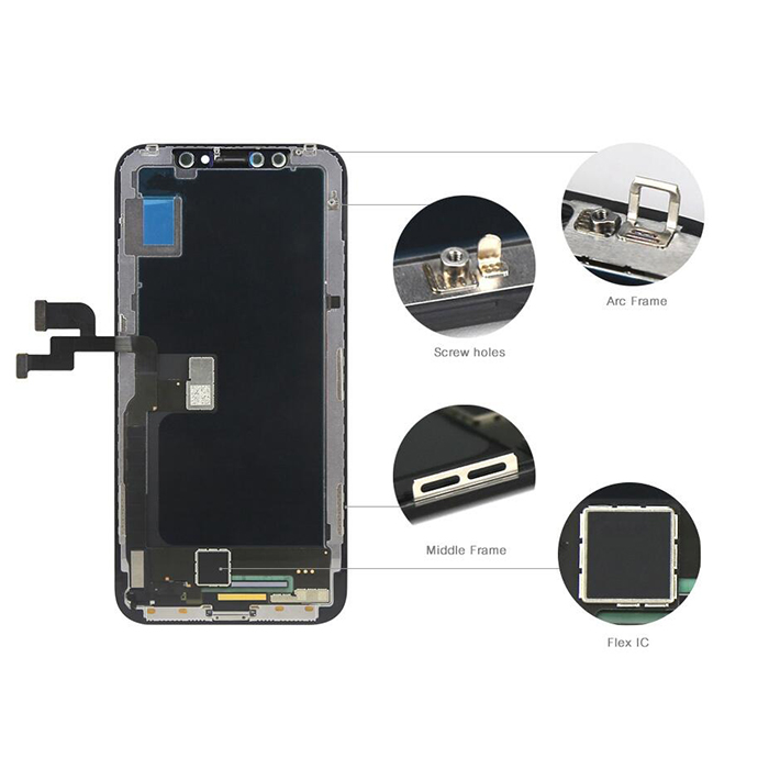 For iPhone X LCD Screen and Digitizer Assembly with Frame Replacement-Black
