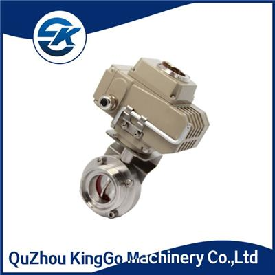 Sanitary Electric Actuator Butterfly Valve
