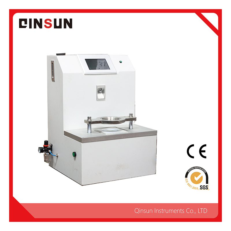 The hydrostatic head tester can be used for waterproof moisture permeability testing of high density fabrics, laminated fabrics, coated fabrics and the so on, such as canvas, felt cloth, tarpaulin, ai