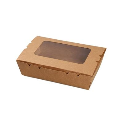 Kraft Lunch Box With Window Paper Box