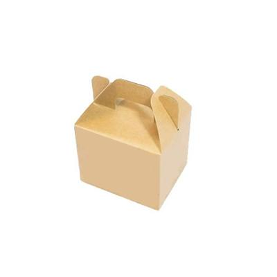 Kraft Paper Box Containers With Handle