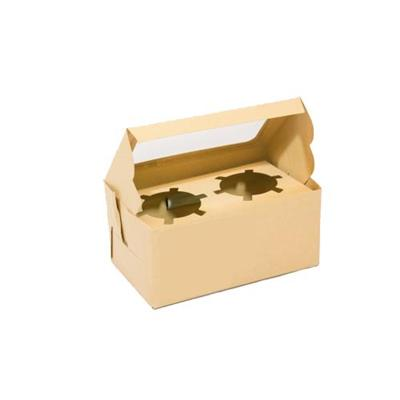 Brown Kraft Paper Cupcake Box
