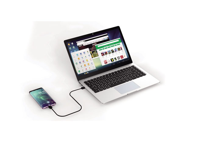 Laptop-Style Dock for USB-C mobile phone APM-T8