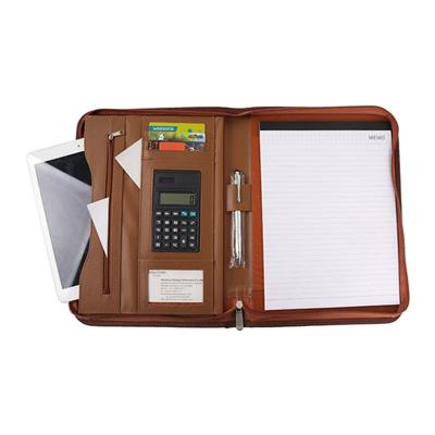 Personalized Leather Portfolio With Calculator