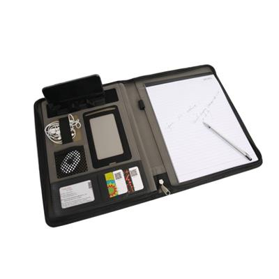 A4 Zipper Padfolio With Phone Holder