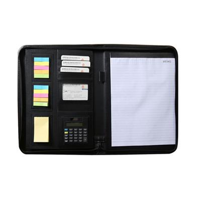 Genuine Leather Padfolio With Sticker Notes