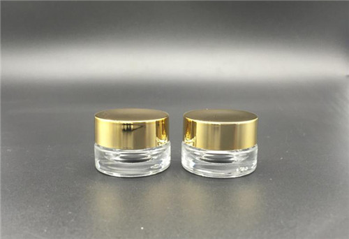 China high quality cosmetic round jar screw neck press  glass bottle 4G wholesale
